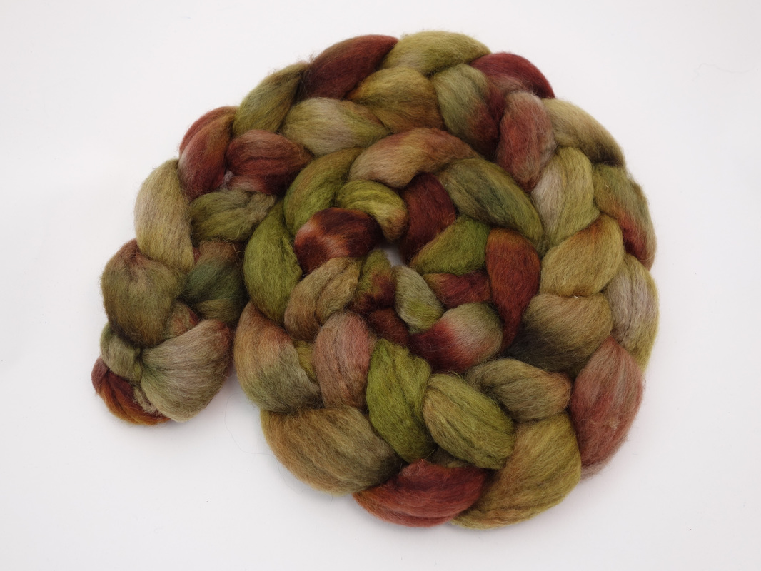 Hand Dyed BFL Fibre