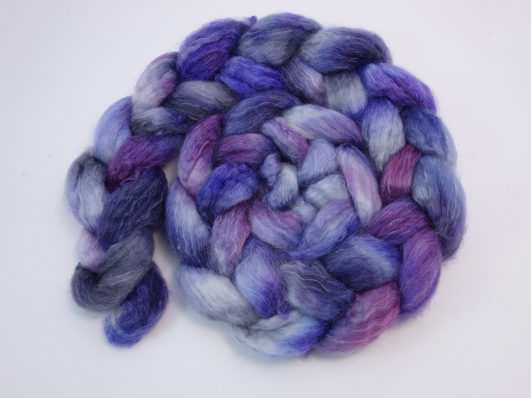 Hand Dyed Spinning Fiber