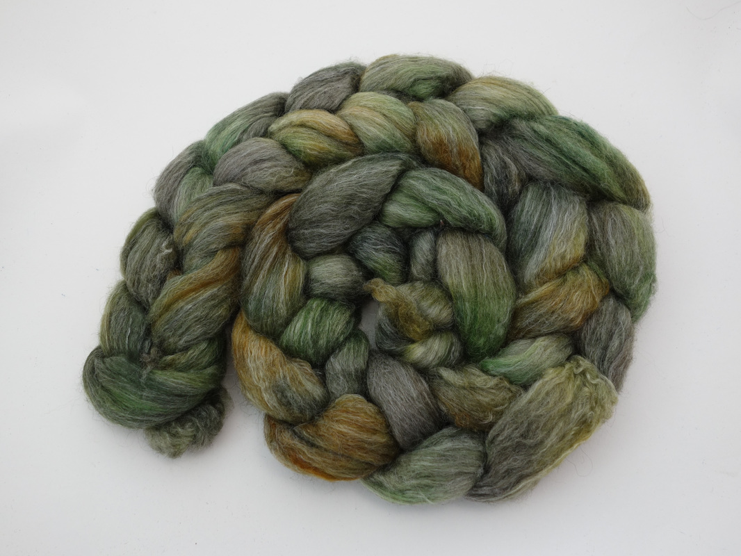 Hand Dyed Corriedale Fiber