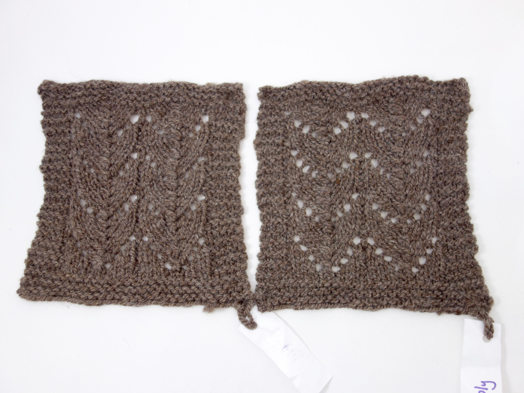 Lace Swatches in Hanspun