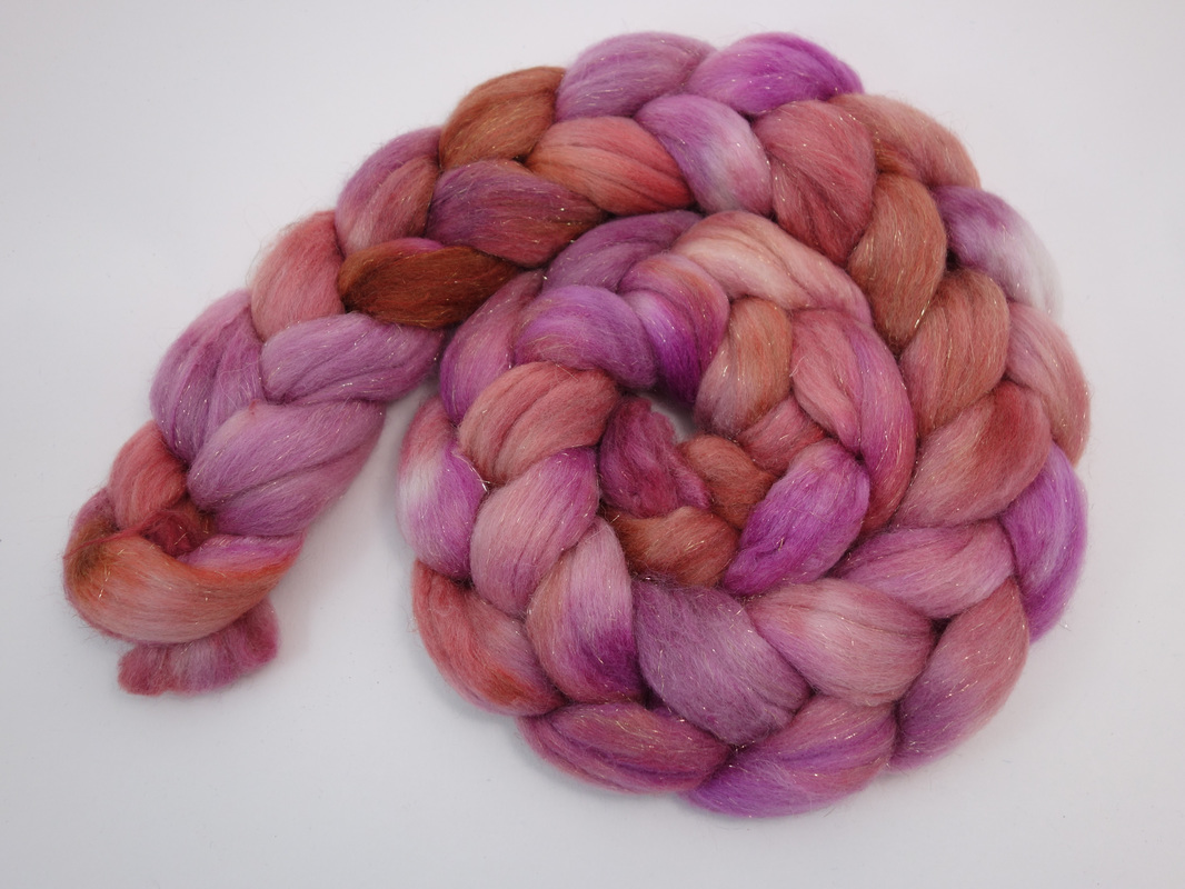 Hand Dyed Polwarth Roving