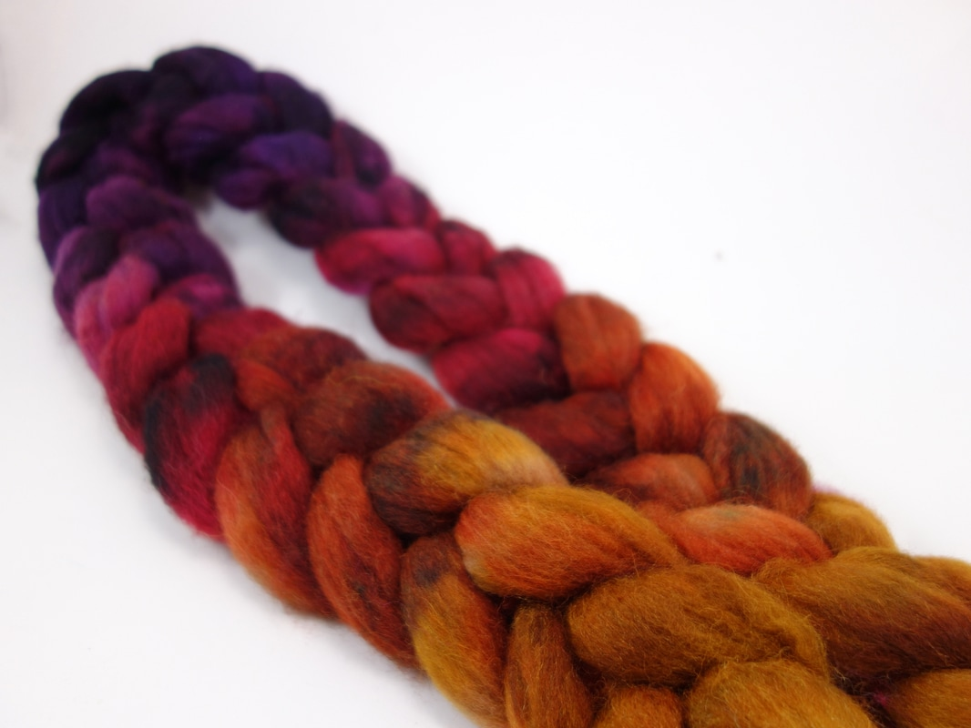 Picture Hand Dyed Sock Fibre, Superwash BFL Nylon