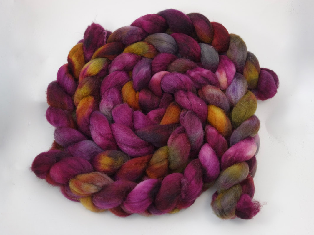 Hand Dyed British Spinning Fibre