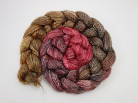 Hand Dyed Camel Spinning Fibre