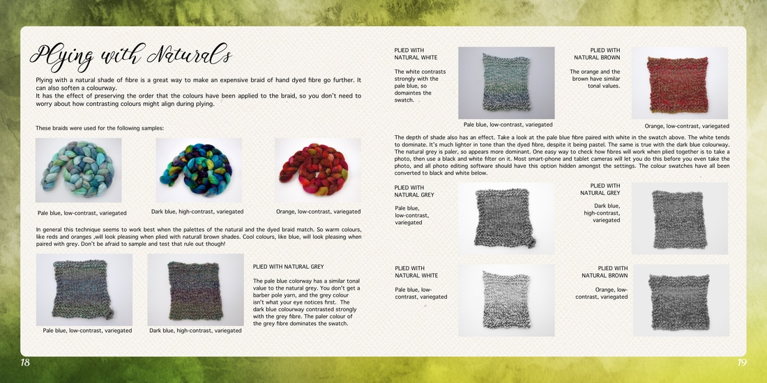 Sample Page from A Guide to Spinning Hand Dyed Fibre
