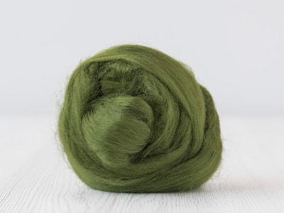 Mossy Green Tussah Silk Tops