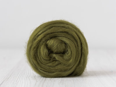 Olive green tussah silk tops
